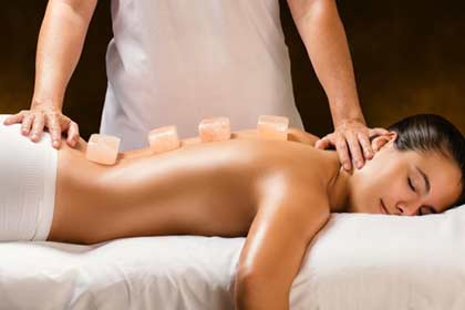 Hot Rose Quartz Stone Massage