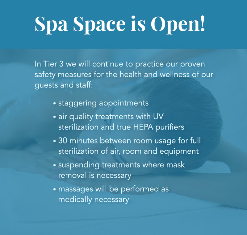 Spa Space is Open!